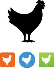 Vector Design Chicken Standing Icon - Illustration