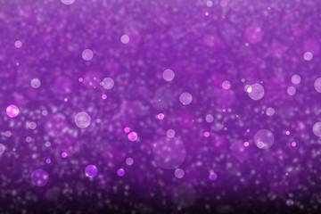 purple glitter background with bokeh lights, sparkling abstract background with floating purple and white light circles