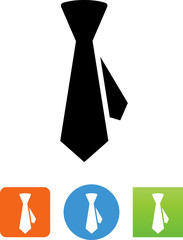 Vector Necktie Icon - Illustration