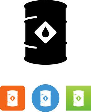 Vector Oil Barrel Icon -  Illustration