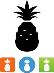 Vector Pineapple Icon - Illustration