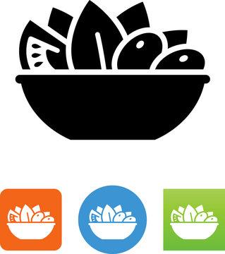 Vector Salad Icon - Illustration