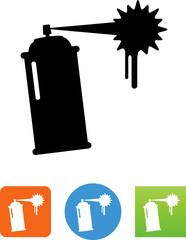 Vector Spray Paint Icon - Illustration