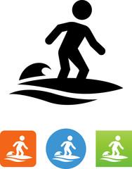 Vector Surfer Icon - Illustration
