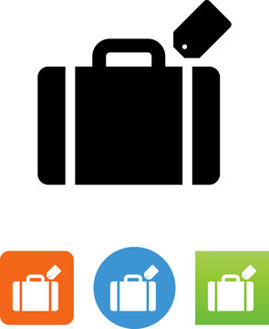 Vector Suitcase Icon - Illustration