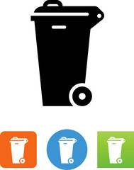Waste Bin Icon - Illustration