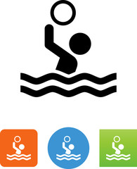 Water Polo Icon - Illustration