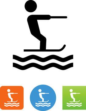 Water Skier Icon - Illustration