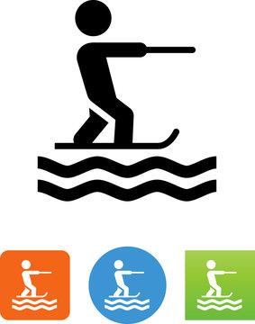 Water Skiing Icon - Illustration