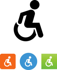 Wheelchair Icon - Illustration