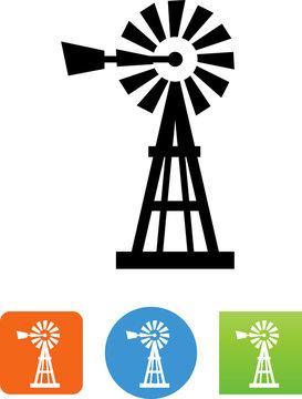 Windpump Icon - Illustration