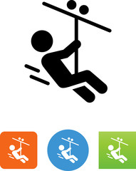 Zip Line Icon - Illustration