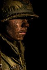 Shell Shocked US Marine In Profile - Vietnam War