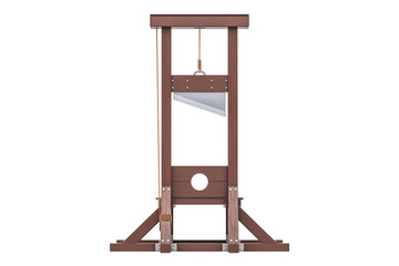 Guillotine closeup, 3D rendering