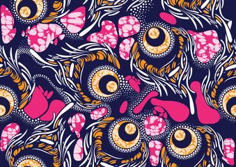 Textile fashion african print fabric super wax Wall mural