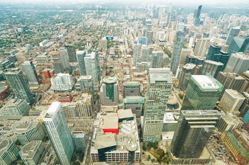 Aerial view of Toronto downtown. Ontario, Canada