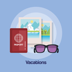 vacations travel relax enjoy tourism destination vector illustration