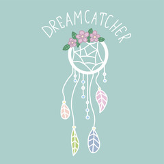 Dreamcatcher cartoon vector illustration pastel tone