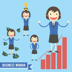 Business Woman character illustration - vector pack