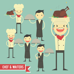 chef character illustration - vector pack