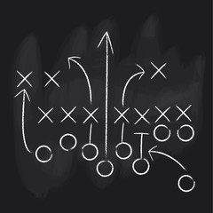 Vector Football Play. Football America. Touchdown