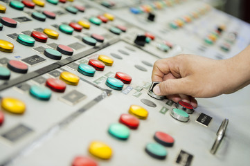 Hand and control panel board.