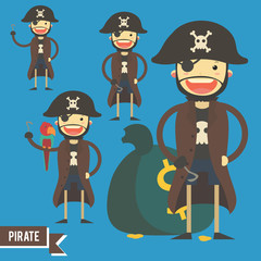 Pirate character illustration - vector pack