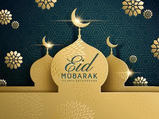 Eid mubarak greeting design