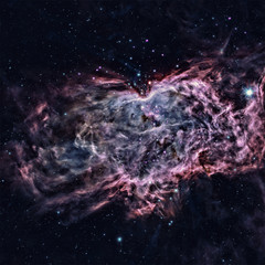 The Flame Nebula in the constellation Orion. Elements of this image are furnished by NASA