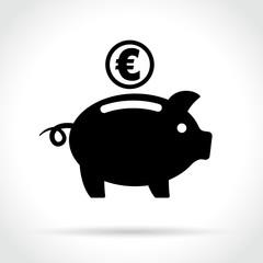 euro moneybox icon