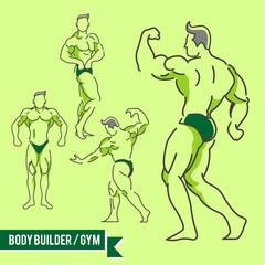 Body Builder / Gym Vector Illustration