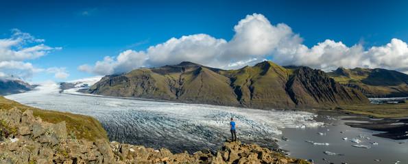Panorama Aussicht auf den Skaftafellsjökull Gletscher im Skaftafell Nationalpark