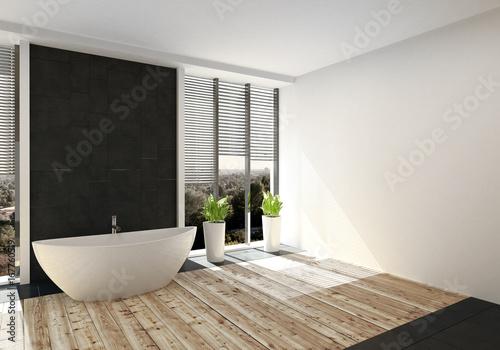 Fußboden Badezimmer ~ Modernes luxuriöses badezimmer mit fussboden aus edlem holz