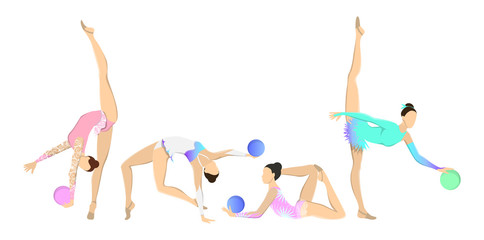 Gymnastics with ball set.
