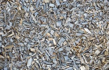 Holzschnitzel oder Rindenmulch, Hintergrund, Detailaufnahme