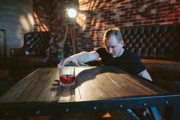 Drunk man in loft design