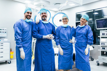 Team of surgeon ready for next operation