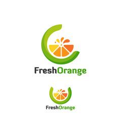 Fresh Orange logo, C initial Orange logo template designs vector illustration