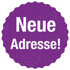 Neue Adresse Sticker - Vektor - Violett