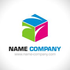 logo artisan peintre décorateur conseil cube