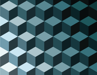 abstract vector background tridimensional cubes optical illusion, geometric pattern