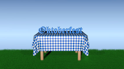 "Table with the text ""Oktoberfest"""