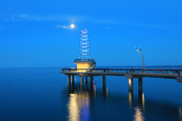 Brant St. Pier Burlington, Canada at night