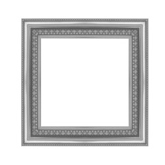 grey picture frame isolated on white background