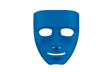 Smile blue mask.