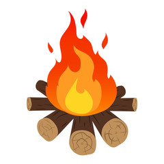 Camp fire. Vector.