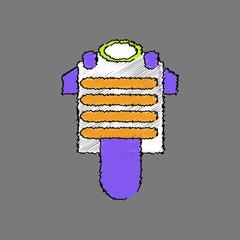 flat shading style icon bulletproof vest