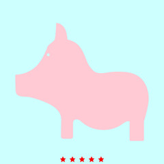 Pig  it is color icon .