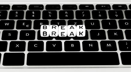 Break symbol on keyboard