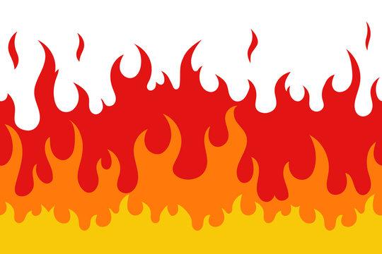 Fire seamless pattern. Vector.